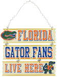 Florida Gators Fans Wooden Sign