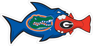 "3"" Florida / Georgia RIvalfish Magnet"