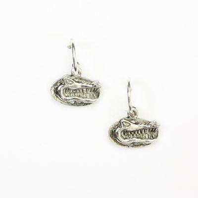 Florida Silver Logo Hoop Earrings