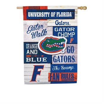 University of Florida Linen Fan Rules House Flag