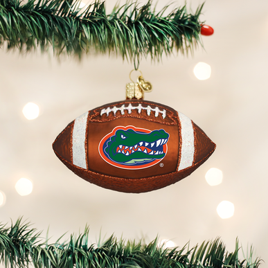 Old World Christmas Gator Football Ornament
