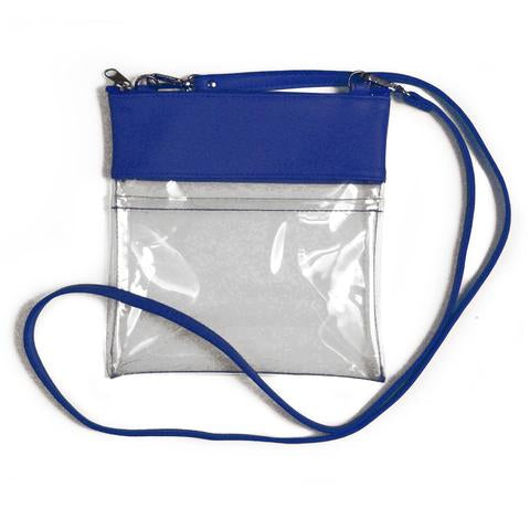 Florida Gameday Crossbody in Royal Blue Vegan Leather