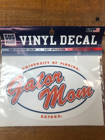 "Gator Mom 6"" Oval Decal"