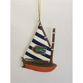Florida Gator Sailboat Ornament