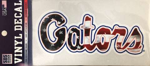 "Gators Script 6"" Decal - American Flag"