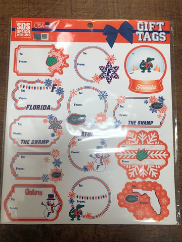 Florida Gators Holiday Gift Tag Stickers