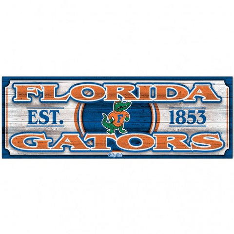 "University of Florida Vault 9"" X 30"" Wood Sign"
