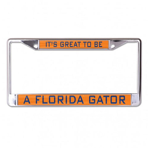 It's Great to be a FL Gator Metal Inlaid License Frame