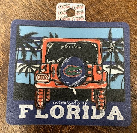 "Florida Gators Jeep Adventure Beach 4"" Decal"