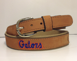 Florida Gators Brown Leather Logo Belt