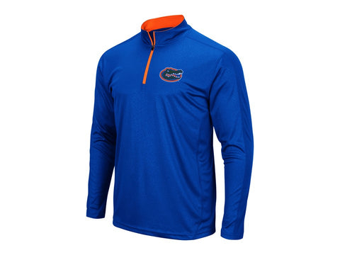 Florida Gators Men's Blue Quarter-Zip Long Sleeve Dry-FIt Shirt
