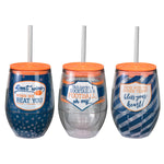 12 oz Tailgate Talk Wine Tumblers