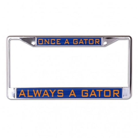 Once A Gator Always A Gator Metal Inlaid License Frame