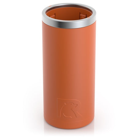 12 Ounce Matte Orange Skinny Can Cooler