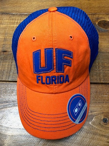 UF Gator Trucker Hat in Orange and Blue