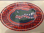 "6"" Euro Gator Head with Skin Background Vinyl Decal"