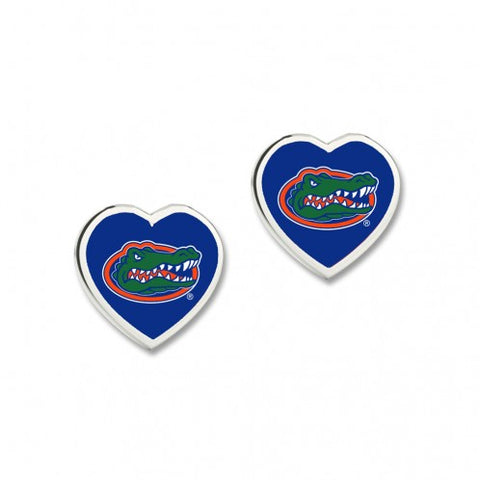 Gator Heart Post Earrings