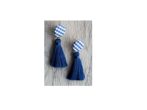 Royal Blue Southern Prep Earrings