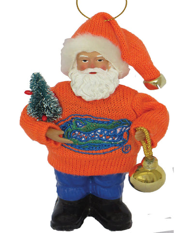 Florida Gator Santa Ornament