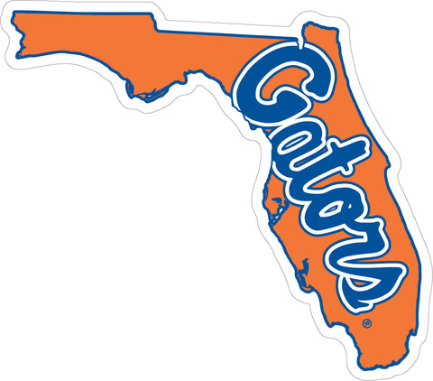 Small State of Florida and Gators VInyl Decal