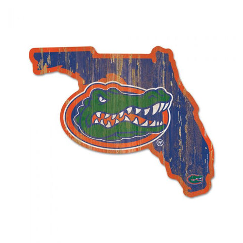Gators and State of Florida Wood Sign