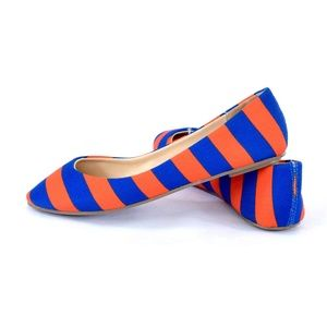 Florida Gator Striped Women's Flats