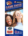 Florida Gators Waterless Face Tattoos and Eye Strips