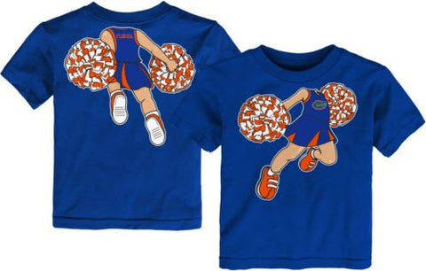 Toddler Florida Gators Blue Pom Pom Cheer T-Shirt