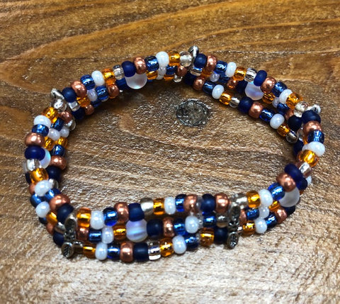 Small Beaded Trio Bracelet