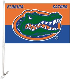 Florida Gator Car Flag - Orange & Blue