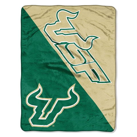 "USF Bulls ""Halftone"" Micro Raschel Throw"