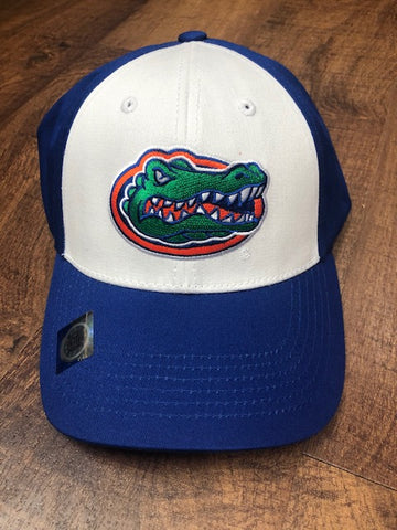 Blue & White Hat with Gator Head Logo