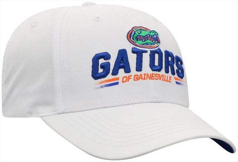 Florida Gators White Adjustable Hat