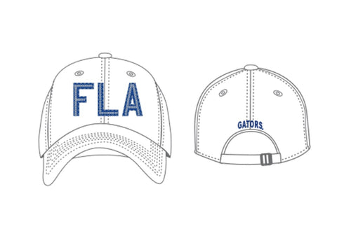 FL Gators Women's Glow District Hat White
