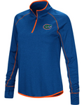 Dri Fit Pullover With Zipper in Blue
