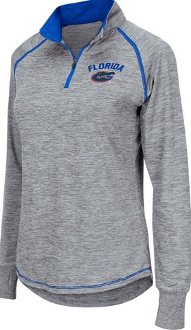 Dri Fit Pullover With Zipper in Grey