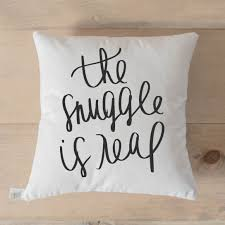 "18"" The Snuggle Is Real Pillow Cover"