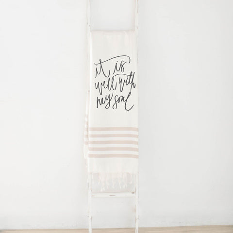 It Is Well Verse Lightweight Throw Blanket