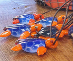 Artisan Blown Glass Sea Turtle Necklace