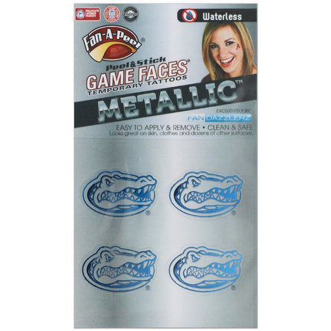 Florida Gators Game Faces Metallic Tattoo
