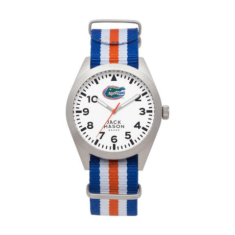 Jack Mason Gators Striped Nato Watch