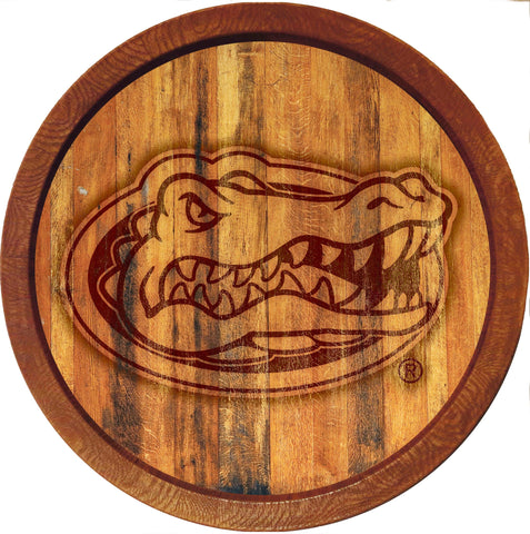 "Florida Gators 20"" Plastic Barrel Wall Sign Primary Burnt - SHIPS FROM PENNSYLVANIA"