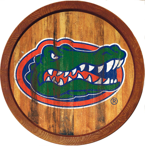 "Florida Gators 20"" Plastic Barrel Wall Sign Primary Worn - SHIPS FROM PENNSYLVANIA"