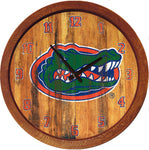 "Florida Gators 20"" Plastic Barrel Wall Clock Primary Worn - SHIPS FROM PENNSYLVANIA"