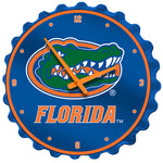Florida Gators Bottle Cap Wall Clock Primary Logo - SHIPS FROM PENNSYLVANIA