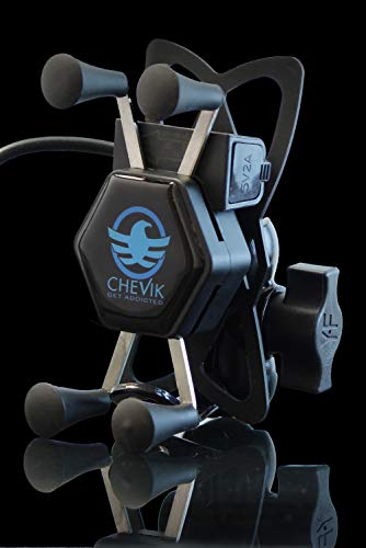 CHEVIK Get Addicted X-Grip Bike Mobile Holder with Charger