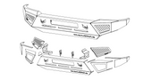 1999-2004 FORD F250/F350 FRONT WIY BUMPER KIT