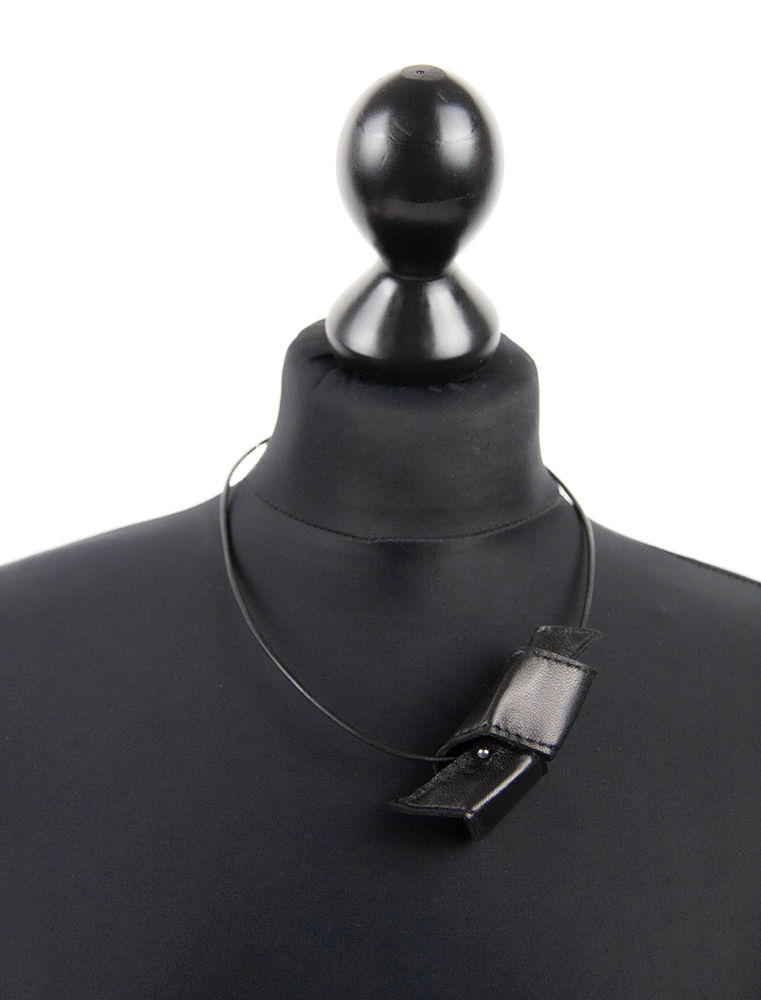 Collier Abstrakt | Leder
