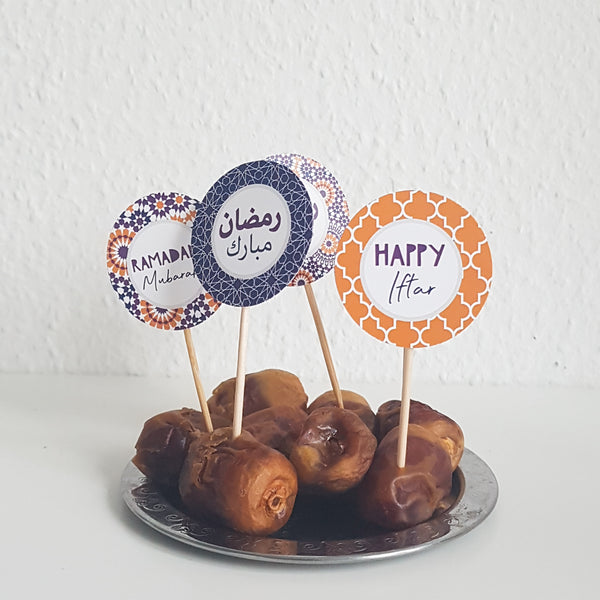 Ramadan Cupcake Topper SUNSET Collection
