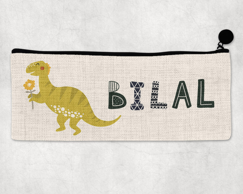 Pencil Case dinosaur with flower
